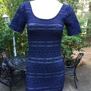 Abercrombie & Fitch Blue Laced Dress Size S